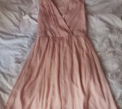 Roze lepsava haljina S velicina