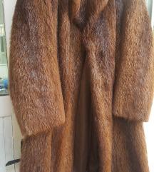 duga bunda od prirodnog  krzna nutrije