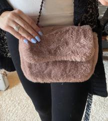 Diana Co krznena roze torbica  NOVO**1300 din