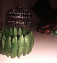 Drvena zelena narukvica