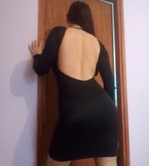 Crna haljina bez ledja