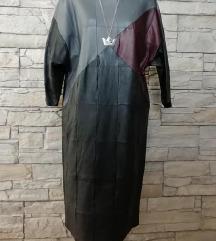 kozna haljina siva