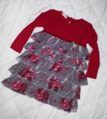 Crvena haljinica sa karnerima 2-3godine