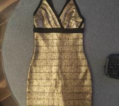 Zlatna haljina snizenoo na 1000