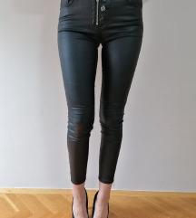 Kožne voskirane pantalone 38