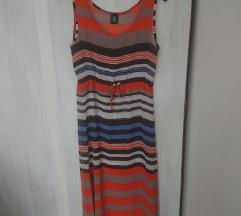 Letnja orange maxi haljina