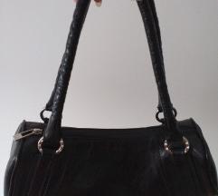 Crna kozna bowling torba, NOVA