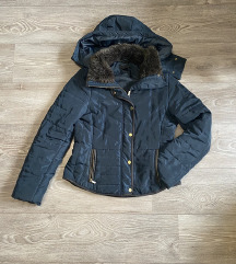 Teget zimska strukirana jakna H&M 36