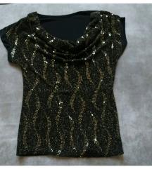 Zlatno crna majica