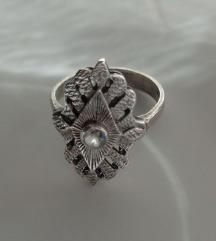 Unikatni srebrni 925 prsten