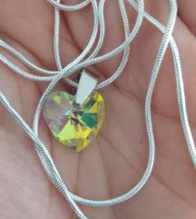 Swarovski srce 925 ogrlica