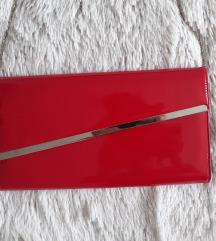 Crvena lakovana torba