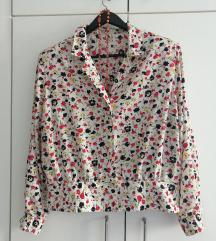 Vintage floral 💐🤍🌺puff košulja