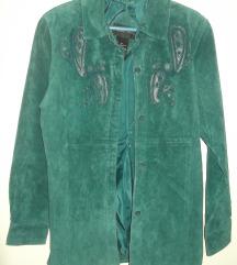 Plava jakna jelenska koža