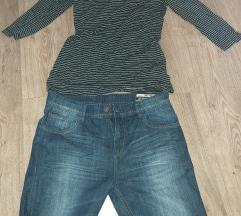 Farmerke kratke bluza