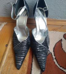 Elegancija simi crno-zlataste sandale