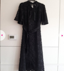 Nova crna midi haljina