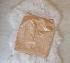 H&M rose gold suknja