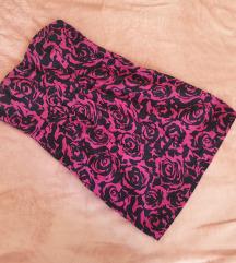 Tally Weijl crno roze ružice