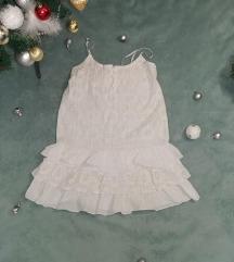 Bela letnja haljinica sa karnerima