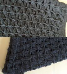 %%700-Crna asimetrična pamucna suknja