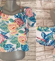 NOVA H&M Cvetna crop majica