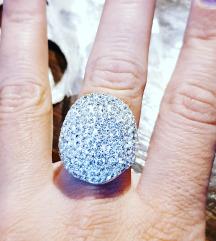 Srebrni prsten Novo 19mm. SNIZENO