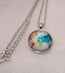 Snizeno MAPA sveta ogrlica