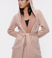 Zara nov roze mantil 2018/2019 M,L