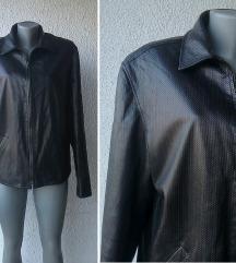 crna kožna jakna broj 44 ili 46 ITALY