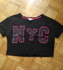C&A crop top crna majica