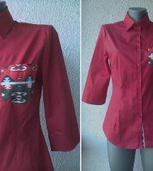 košulja crvena pamučna nova br 38 LUX UNIFORMS