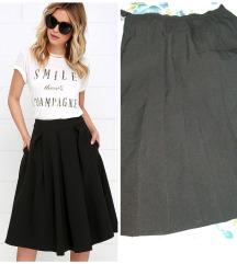 Crna midi suknja