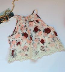 h&m  bluza sa cipkom Floralna