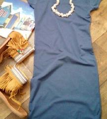 Uska pamučna haljina /S/M / NOVO