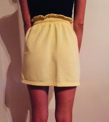 Očuvana žuta pamučna suknja