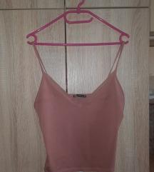 Satenska roze majica na bretele