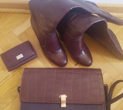 Italijanske kozne cizme+Docca torba+Mona novc