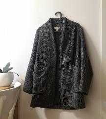 🍓 H&M Herringbone jesenji kaput