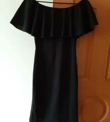 Crna haljina sa karnerima i golim ramenima