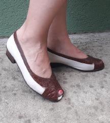 Italijanske kozne sandalete 37 i 1/2 24cm