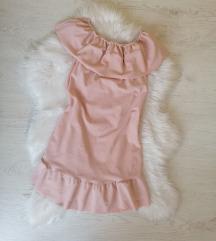 Roze haljina sa karnerima