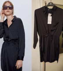 Nova sa etiketom Zara satenska haljina S