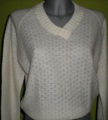 Beli džemper V izrez