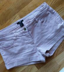 H&M šorts, svetlo roze, veličina 38
