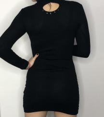 Crna mini haljina/rolka