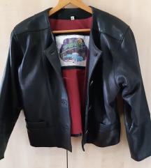 Vintage crna kozna jakna