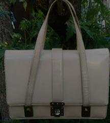 Vintage kozna torbica 24 x 19 cm