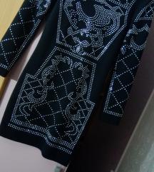 Crna haljina sa cirkonima