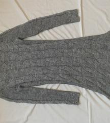 Sivi džemper haljina